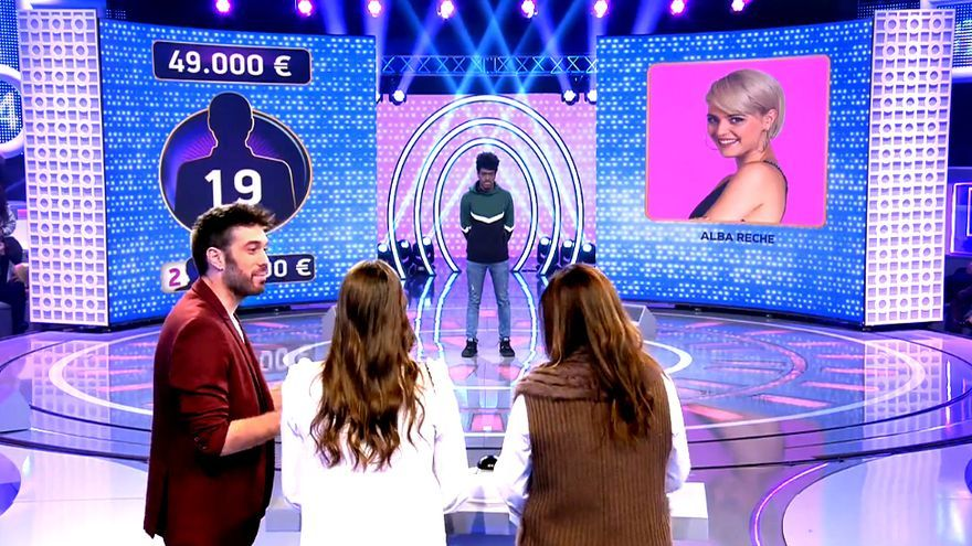 """Momento en el que la imagen de Alba Reche aparece en """"El concurso del año"""""""