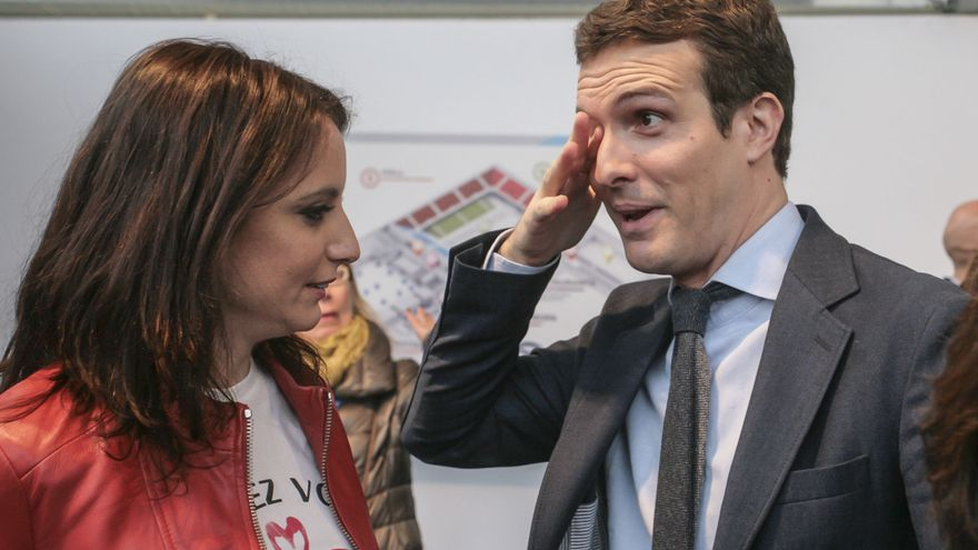 Pablo Casado junto a Andrea Levy en el 18 Congreso del PP