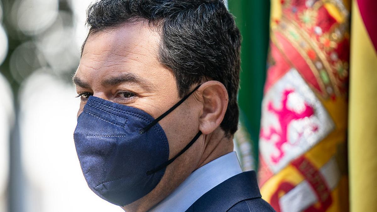 El presidente andaluz, Juan Manuel Moreno Bonilla.