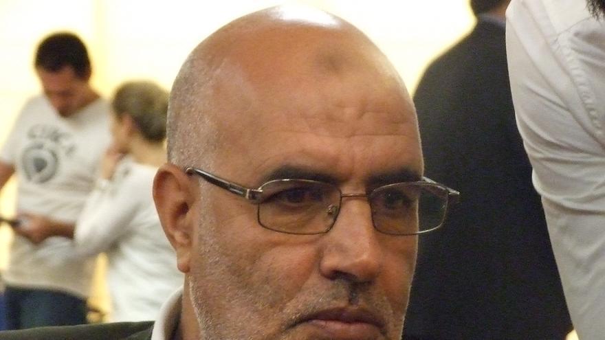 Ahmed Haou, exonerado en Marruecos, durante la rueda de prensa de presentación del 5º Congreso Mundial contra la pena de muerte. Madrid, junio de 2013. Copyright: Amnistía Internacional
