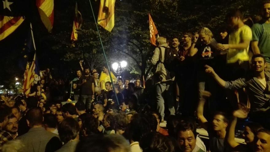 Concentración ante la Conselleria de Economía de la Generalitat, en Barcelona.