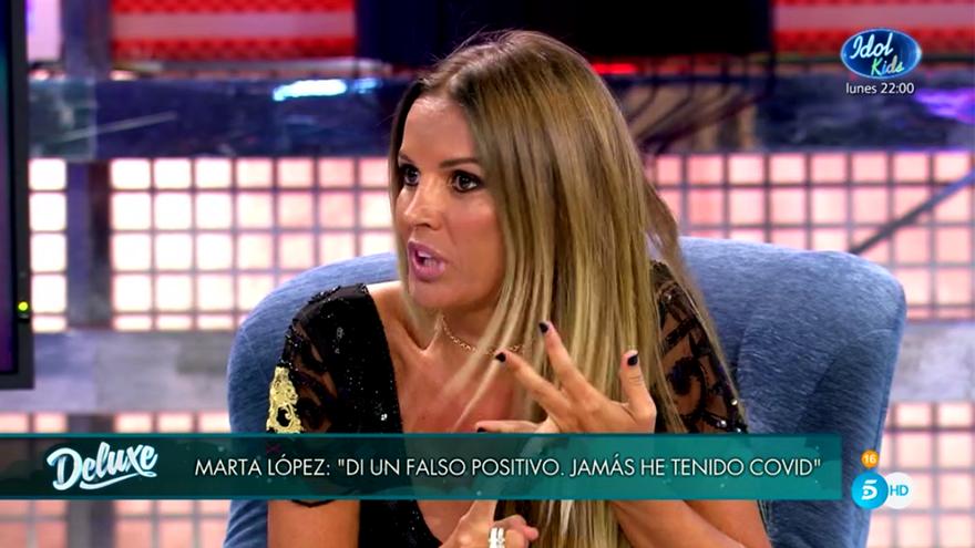 """Marta López volvió por sorpresa al 'Deluxe' tras su despido de Mediaset: """"Di un falso positivo, jamás he tenido Covid"""""""