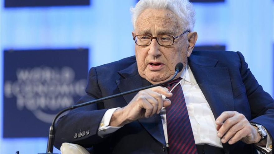 Henry Kissinger en una reunión del Foro de Davos.