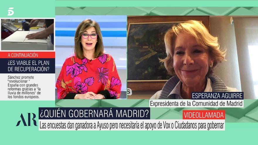 Esperanza Aguirre en 'El programa de AR'