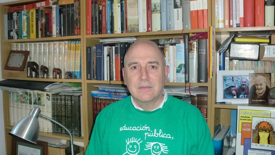 Jesús Aguayo, miembro del Secretariado del Sindicato de Trabajadores de la Enseñanza, STEC