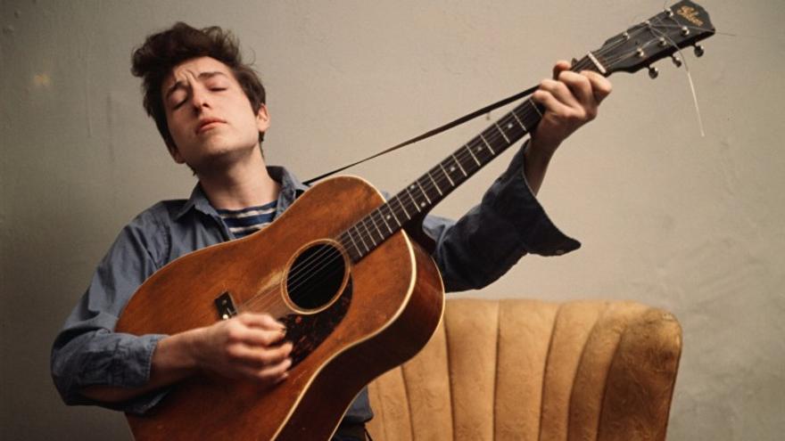 Bob Dylan retratado en 1963