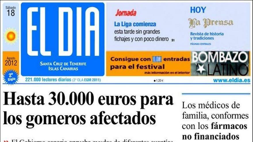 De las portadas del día (18/08/2012) #3