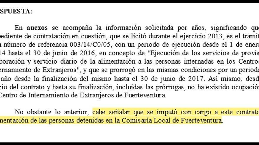 Respuesta del Gobierno sobre el CIE de Fuerteventura.