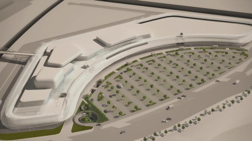 Una de las imágenes que ilustran la página web del proyecto de parque comercial Estepark en Castellón.
