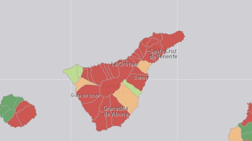 Los datos epidemiológicos de Tenerife no mejoran: la incidencia acumulada sigue en aumento y la ocupación UCI, en riesgo alto