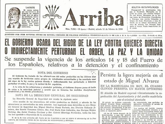 Portada de Arriba | http://lahemerotecadelbuitre.com