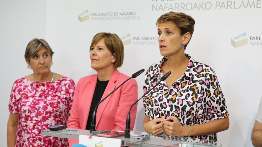 """El acuerdo de PSN, Geroa, Podemos e I-E recoge el respeto al """"modelo institucional"""" y no hay pacto en el TAV"""