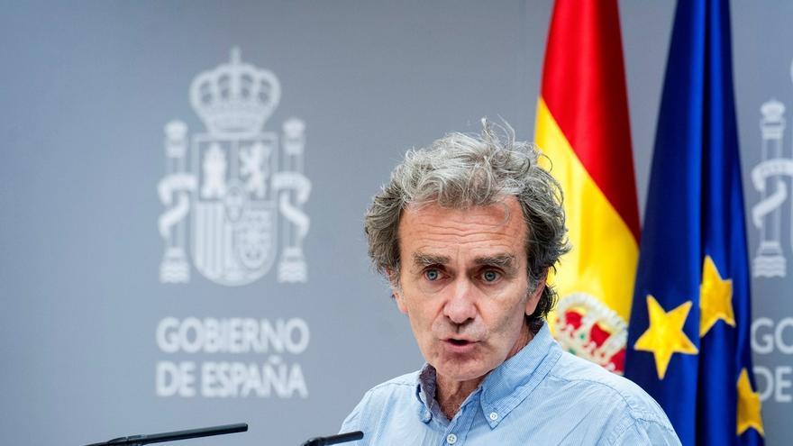 El director del Centro de Emergencias y Alertas Sanitarias, Fernando Simón, durante la rueda de prensa ofrecida este jueves.