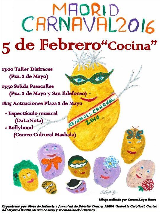 Cartel del carnaval de Centro 2016
