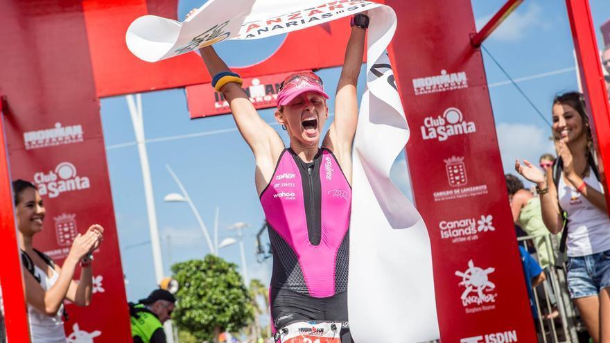Diane Riesler en el Ironman de Lanzarote de 2015
