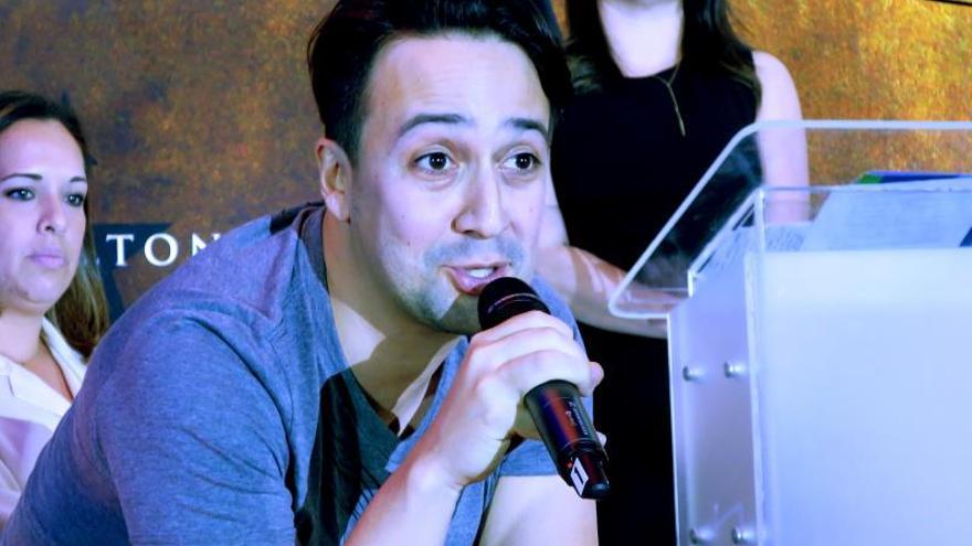 El dramaturgo, actor y cantante de origen puertorriqueño Lin-Manuel Miranda.