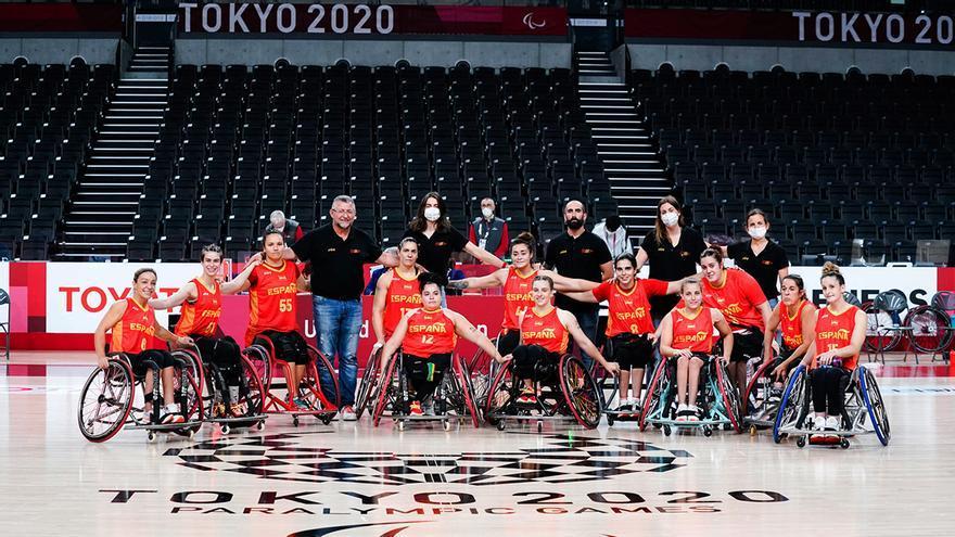 Selección española femenina de baloncesto en silla.