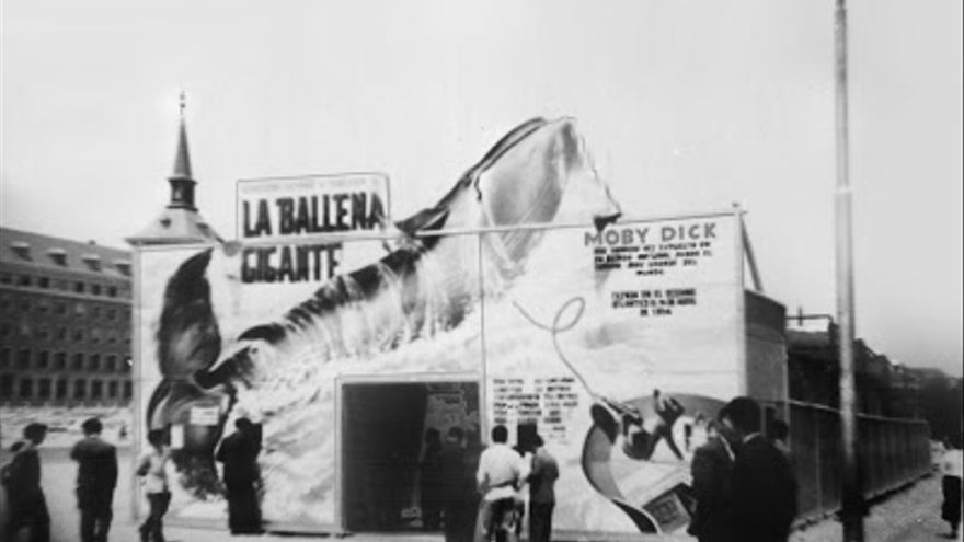 'La ballena gigante', en Moncloa en el año 1954.