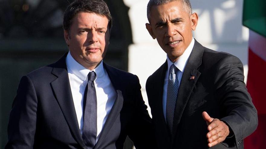 Obama reitera a Renzi su apoyo a Italia pese al resultado del referéndum