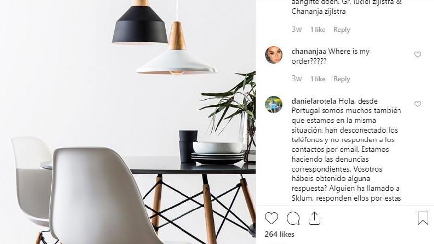 Quejas en el Instagram de SuperStudio