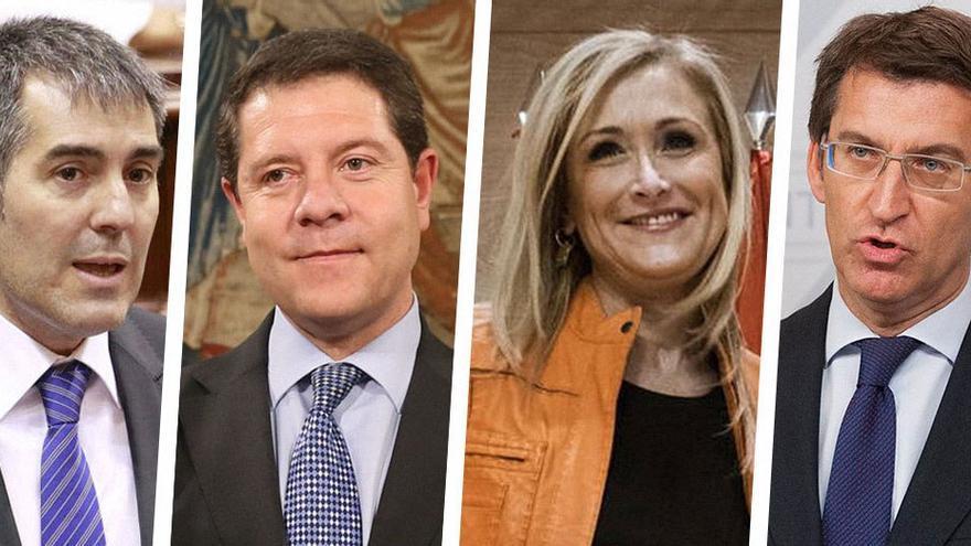 Los presidentes autonónimos de Canarias, Castilla La Mancha, Madrid y Galicia. (Canarias Ahora).