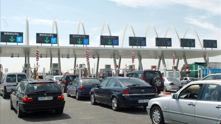 El tráfico en las vías de peaje se hunde un 30 por ciento desde el inicio de la crisis