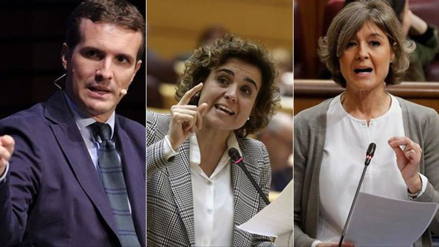 Pablo Casado, Dolors Montserrat e Isabel García Tejerina