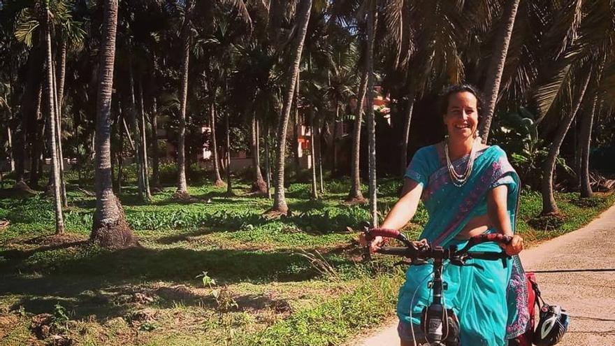 Yesenia Herrera, cicloviajera por el empoderamiento de la mujer.