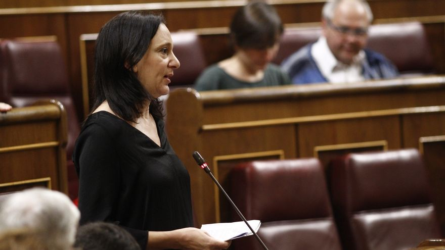 Carolina Bescansa, en el Congreso.