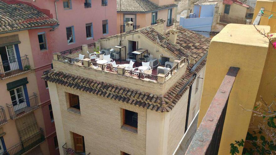 Una terraza en altura en el centro de València