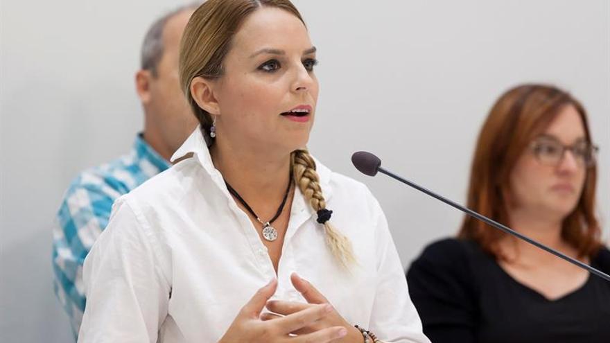 La portavoz del grupo parlamentario Podemos, Noemí Santana. EFE/Ramón de la Rocha