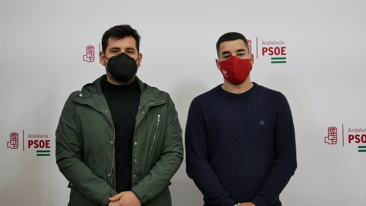 Moyano y Reifs en la sede del PSOE de Córdoba.