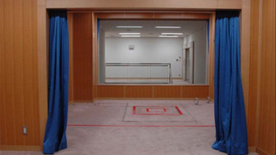 Cámara de ejecución de una cárcel de Japón
