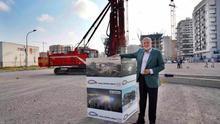 El empresario y promotor del proyecto, Juan Roing, durante el inicio del obras del 'Casal España Arena'
