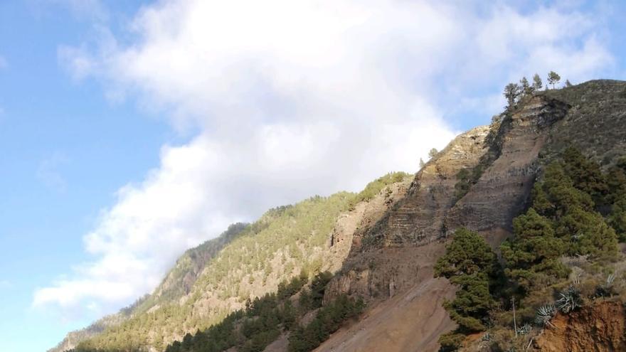 Imagen tomada desde el Mirador de La Cancelita del desprendimiento masivo.