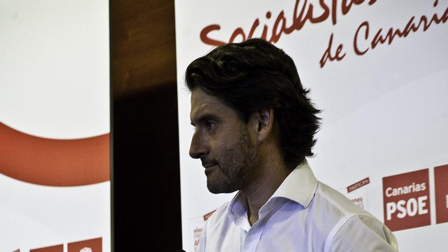 Gustavo Matos en el debate sobre las primarias del PSC. | Maya Bencomo.