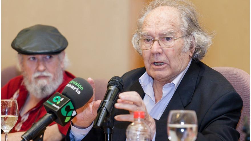 Adolfo Pérez Esquivel, durante la conferencia ofrecida en la ULL