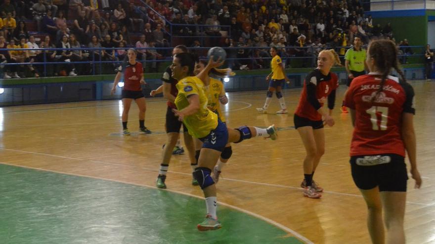 Imagen del partido entre el Rocasa Gran Canaria y el ZRK Mlinotest Ajdovscina.