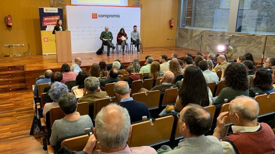 Un acto de las primarias de Compromís en Castellón
