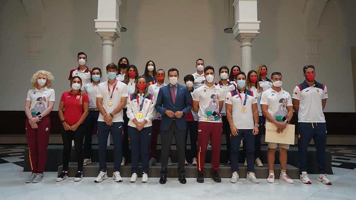 Deportistas reconocidos por la Junta de Andalucía.