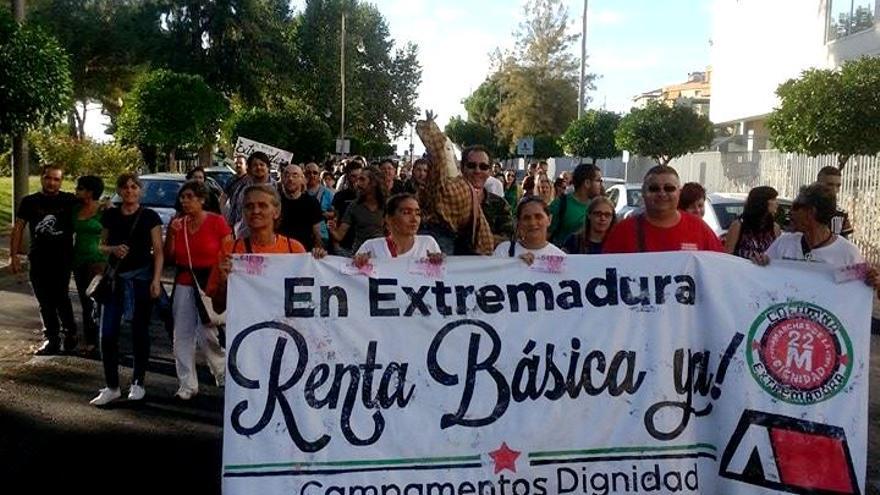Manifestación del Campamento Dignidad en Mérida / Campamento Dignidad