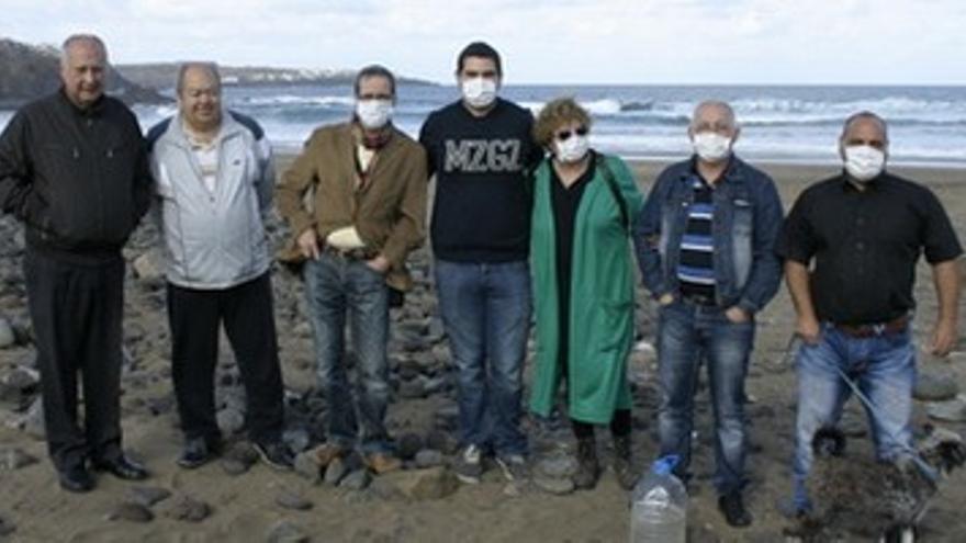 Vertidos de aguas fecales en la playa de Bocabarranco, en Gáldar.