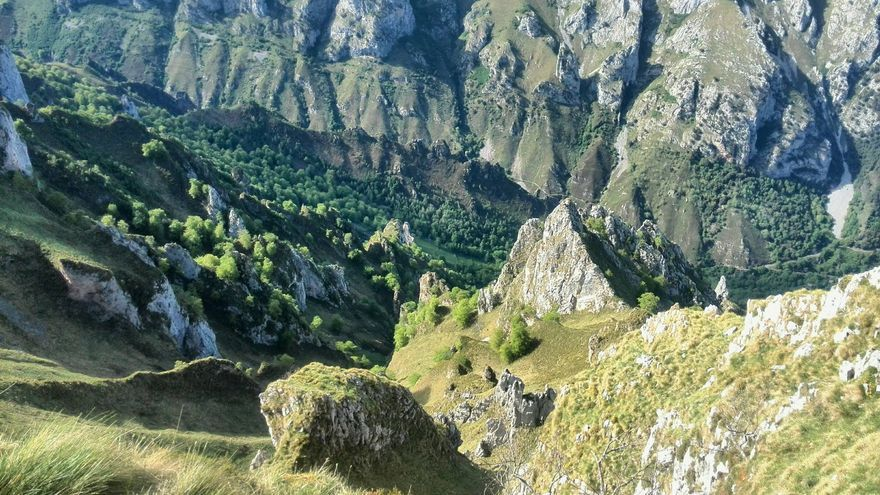 Cara norte de la Jorcaúra el Cantu.   DANIEL LOBETE