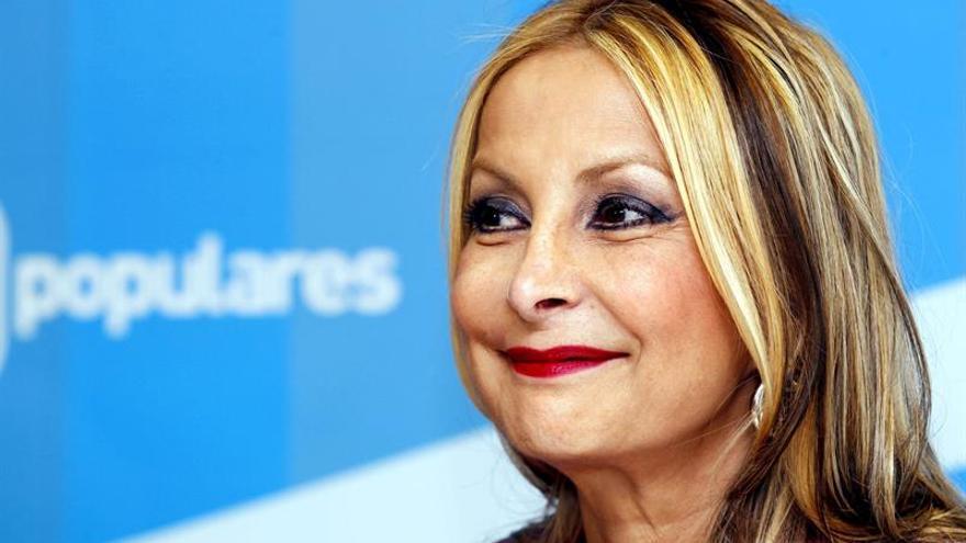 La diputada regional del PP y presidenta del partido en Gran Canaria, Australia Navarro. EFE/Elvira Urquijo A.