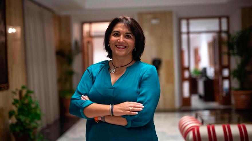 La teniente de alcalde y concejal de Servicios Sociales, Eva Timoteo.