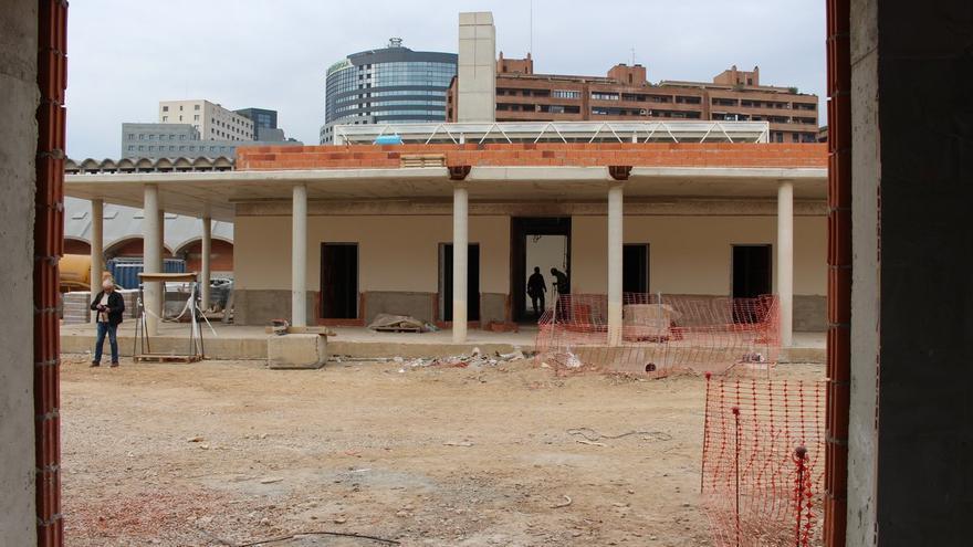 Las obras en el colegio 103 de Valencia