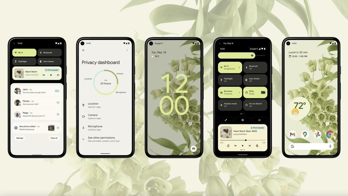 Android 12: nuevo diseño y mejoras (importantes) en la privacidad