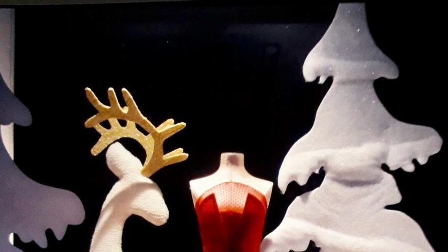 Diseño del artista palmero José Anselmo González del escaparate de una tienda de Madrid.