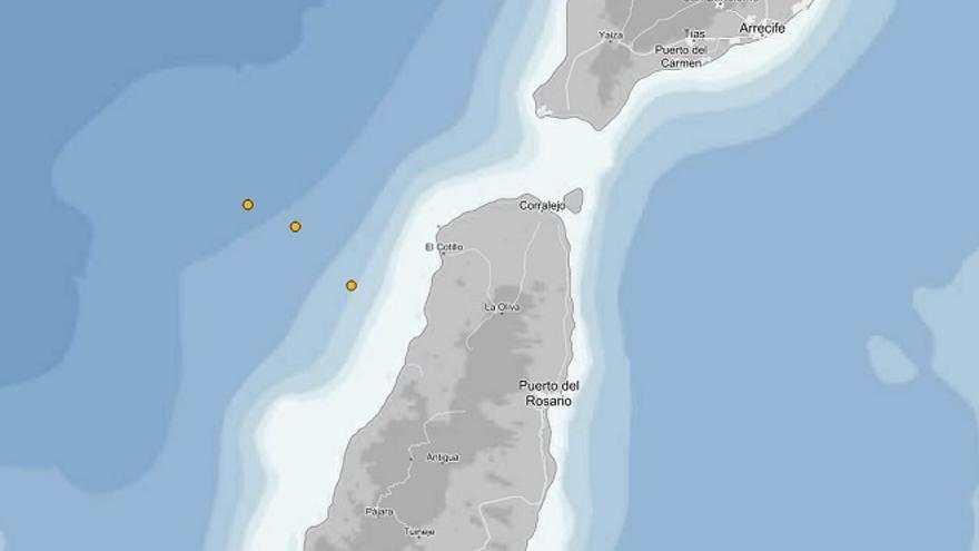 Registrados tres terremotos en los últimos cuatro días frente a la costa de El Cotillo