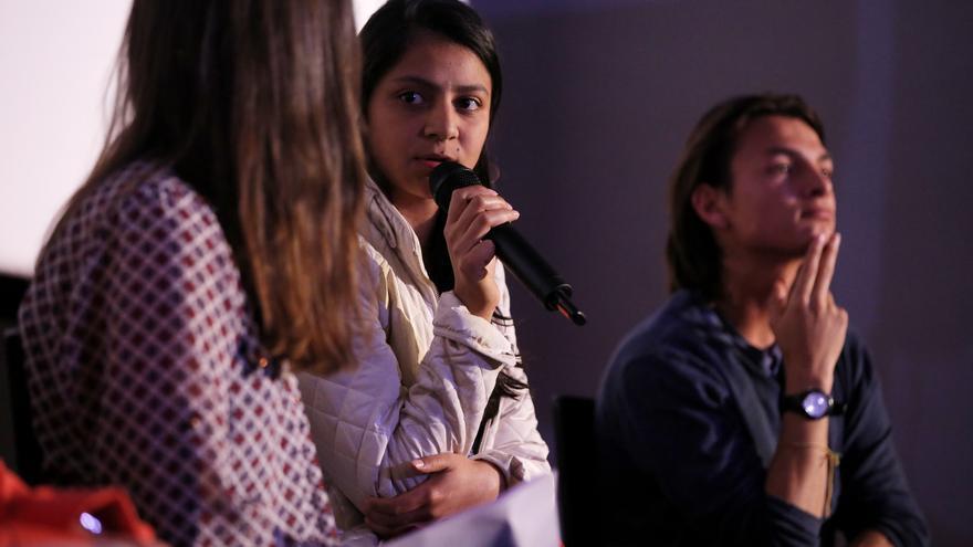 """Laura Zúñiga en """"El precio del activismo"""", un debate celebrado este miércoles en Madrid."""